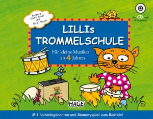 Die musikalische Katze Lillie hat ein neues Instrument entdeckt: Die Trommel